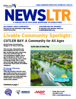 Thumbnail image of the cover of the Livable Newsletter, Edition 14 (October 2021).