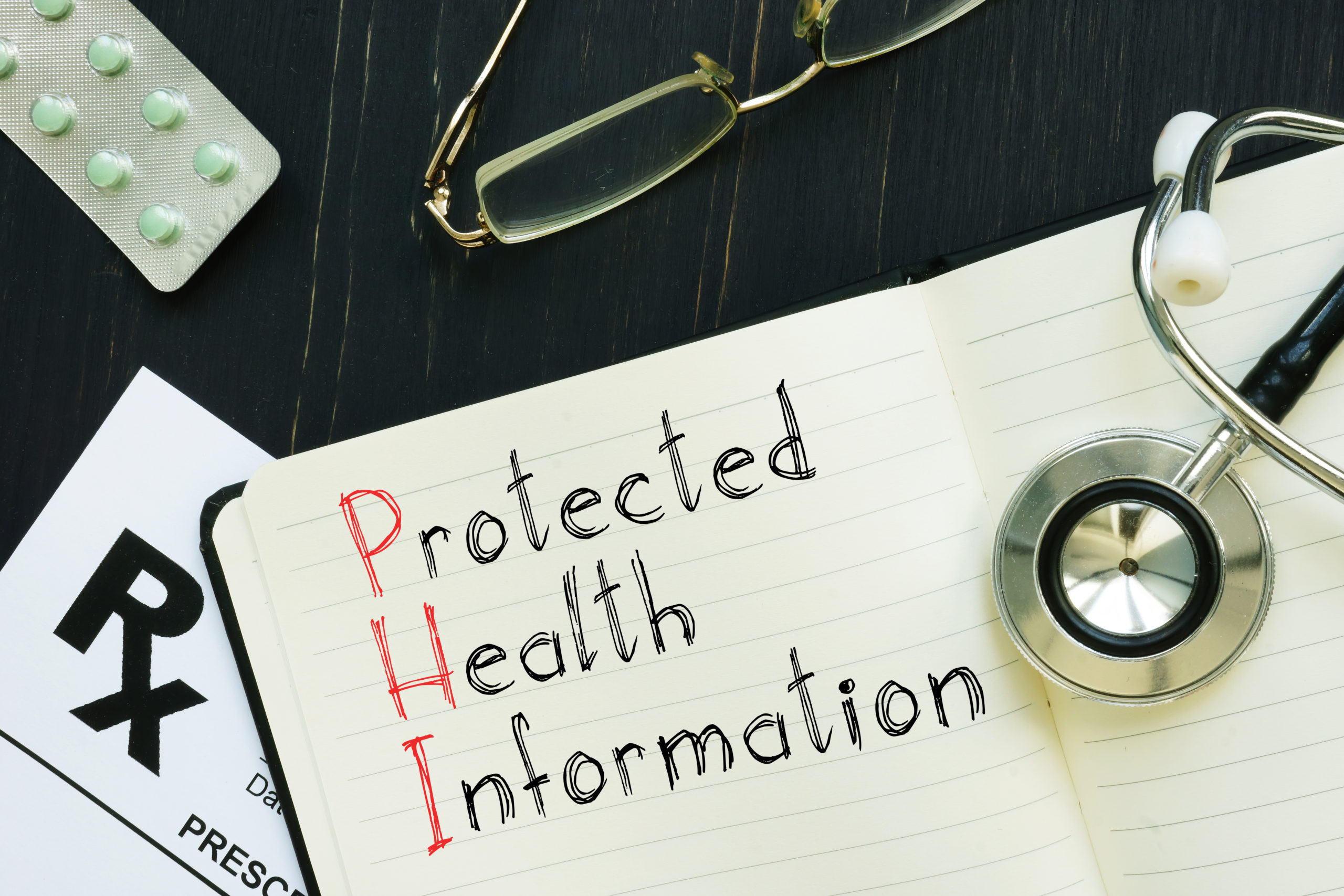 Protected Health Information Phi Is Shown On The Conceptual Business Photo