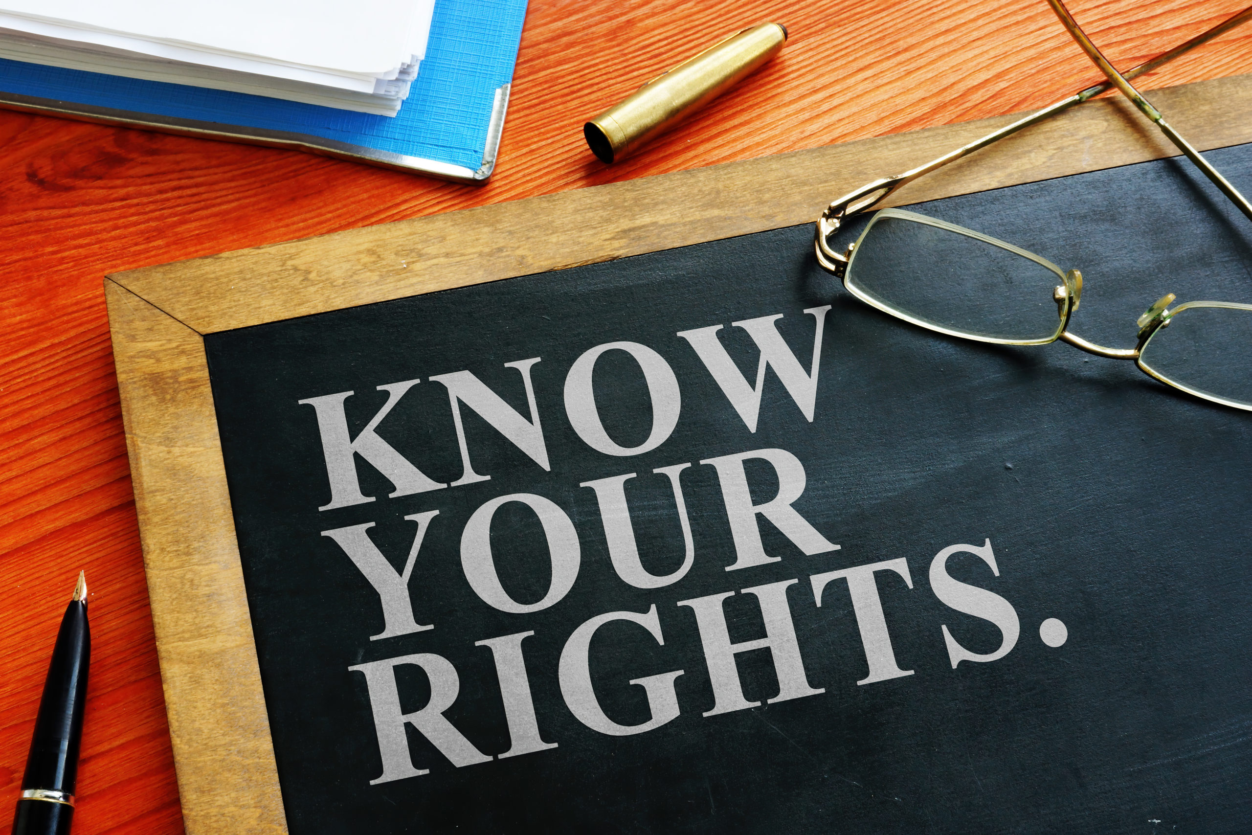 Redundancy Concept. Know Your Rights Sign.