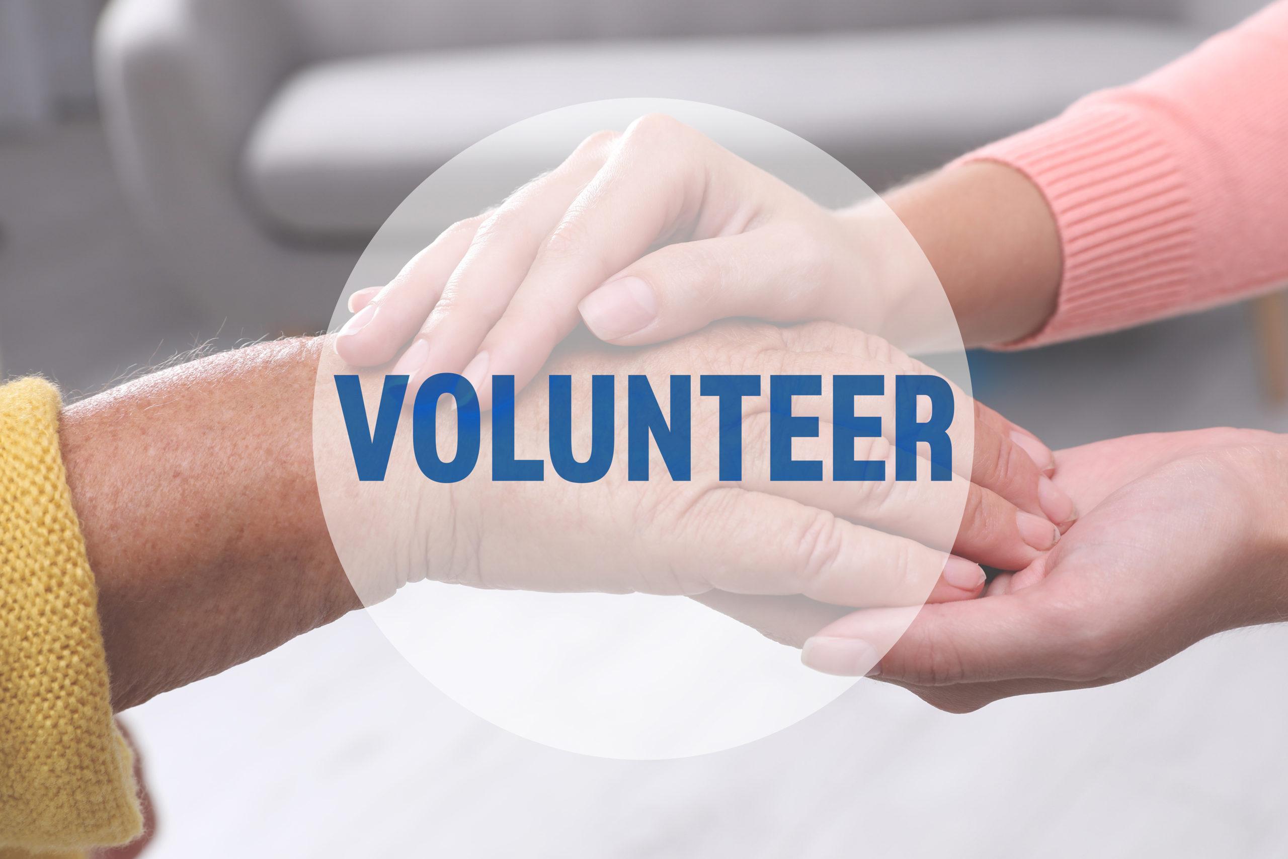 Volunteer Holding Hand Of Senior Woman Indoors, Closeup
